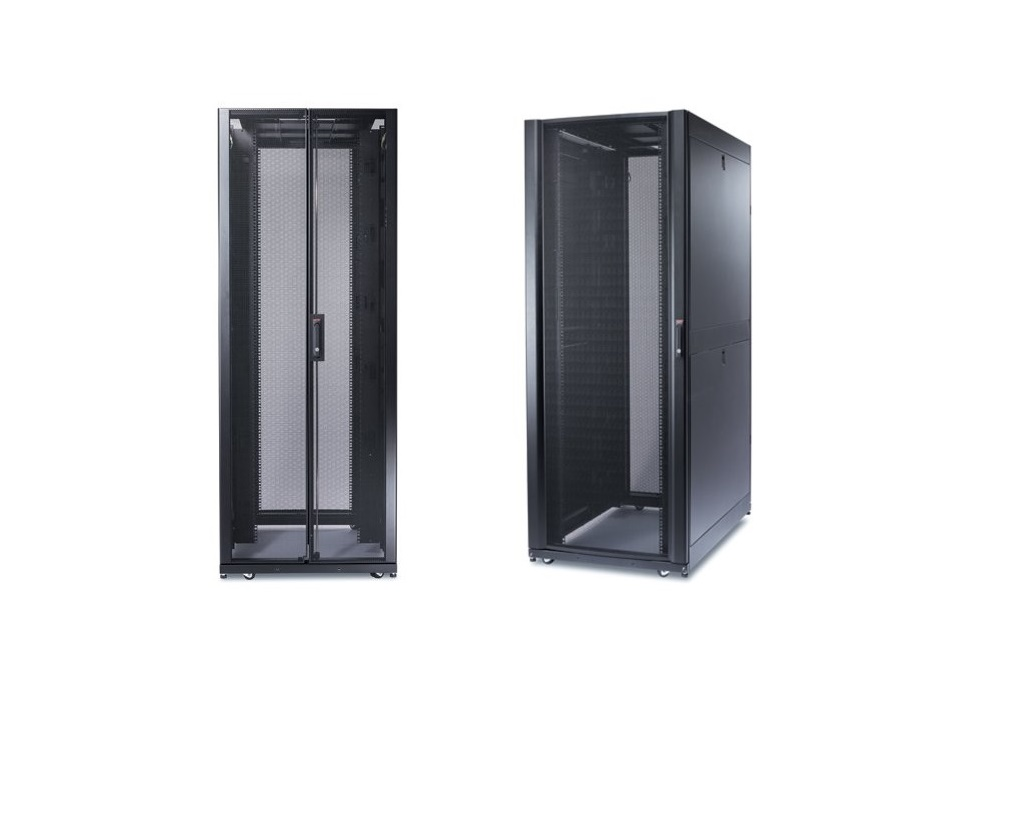 APC NetShelter SX 42U Enclosure With Roof and Sides Rack 29.5x47.2x78.3 Black AR3350