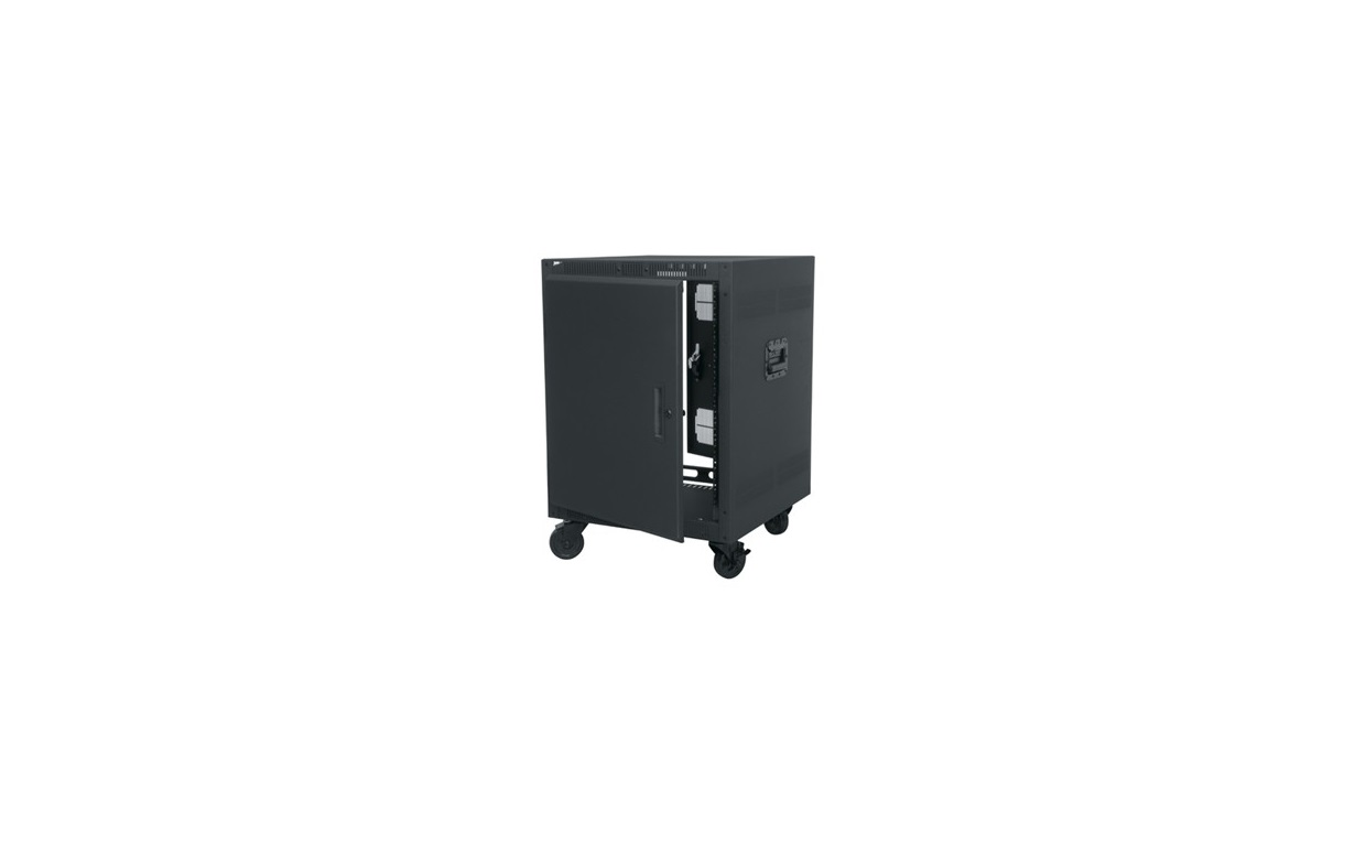 Middle Atlantic Portable Rack 14U 22.6x 23x33.7 Front Door Including Casters Black Steel PTRK-14