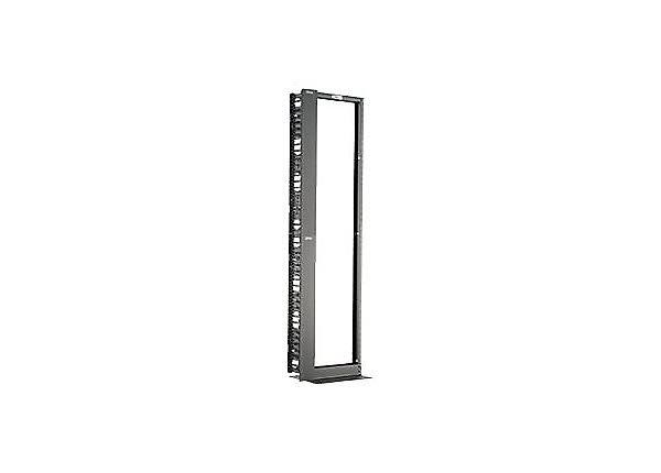 Panduit Two Post Rack With Vertical Cable Management Set 45U Black RWMPVF45E