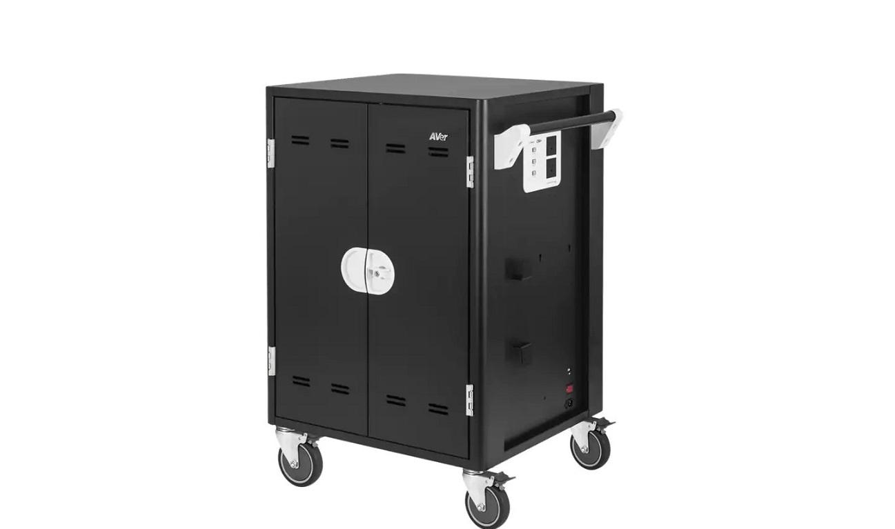 AVer Charge C36i+ Cart For 36 Tablets Notebooks Black CHRGC36I+