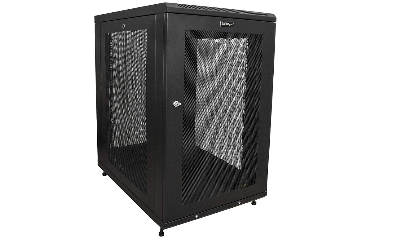 StarTech.com RK1833BKM 30 Deep Enclosure 4-Post 18U Server Rack Cabinet
