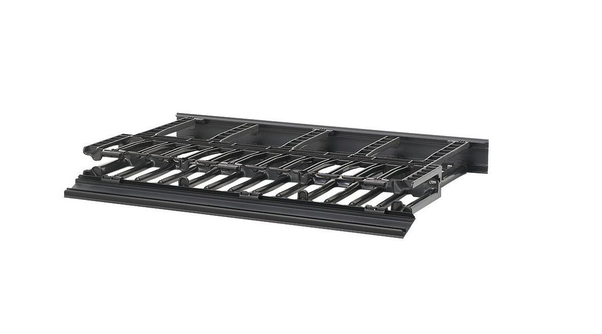 Panduit NM1 Dual Sided Horizontal Cable Manager Panel Black