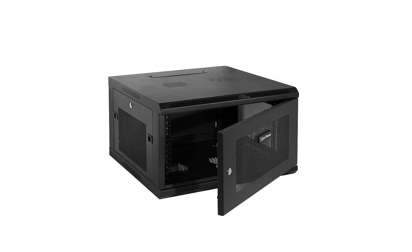 Cyberpower CR6U61001 Carbon Series Wall Mount 6U Rack Enclosure Black CR6U61001